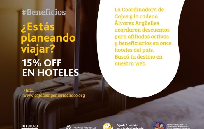 15% OFF en Hoteles