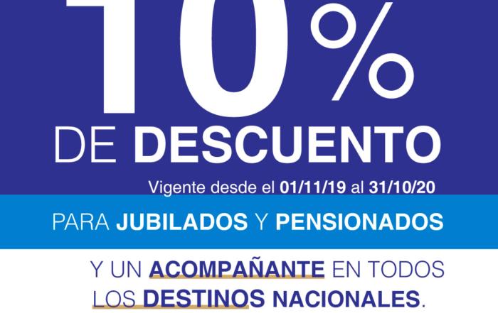 10% AEROLÍNEAS ARGENTINAS