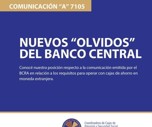 Nuevos «olvidos» del Banco Central